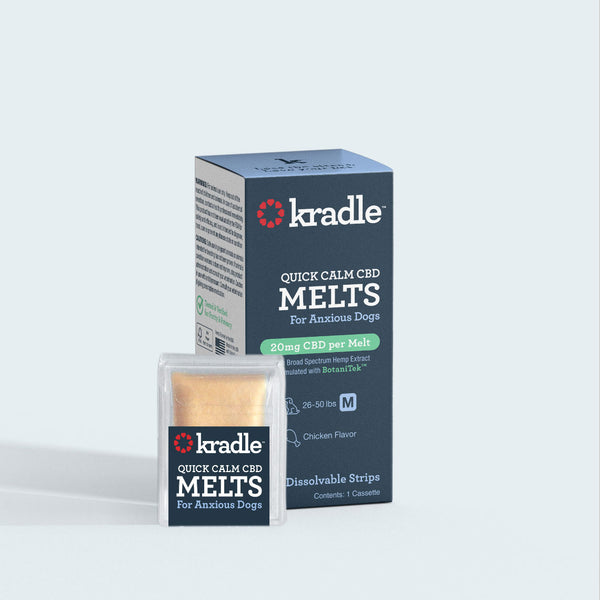 Kradle Quick Calm CBD Melts package contains 10 melts.