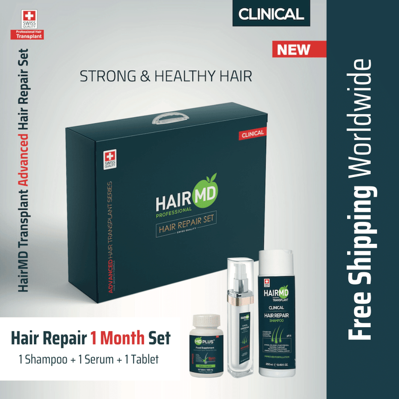 After Hair Transplant Hair Repair Set 1 Month, crownhairtr,