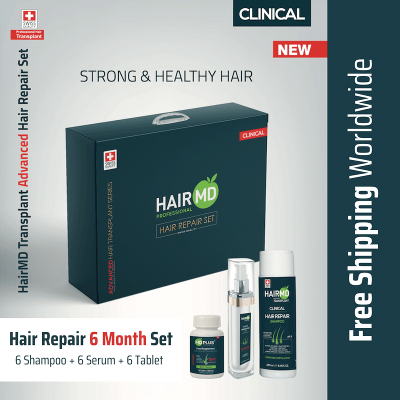 After Hair Transplant Hair Repair Set 6 Month, crownhairtr,
