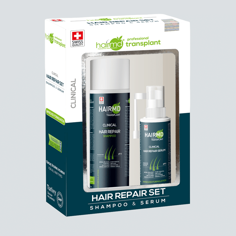 Transplant Clinical Repair Set (Shampoo + Serum), crownhairtr,