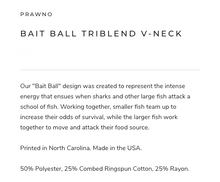 Load image into Gallery viewer, Prawno Bait Ball Triblend V-Neck (Charcoal)