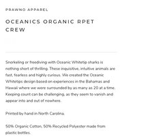 Load image into Gallery viewer, Prawno Oceanics Organic RPET Crew (Black)