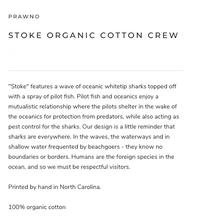 Load image into Gallery viewer, Prawno Stoke Organic Cotton Crew (Eggplant)