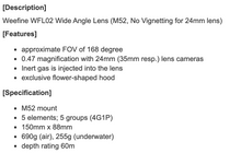 Load image into Gallery viewer, Weefine WFL02 Wide Angle Lens