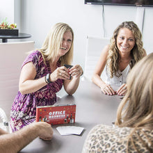 Load image into Gallery viewer, 3-in-1 Funny Office Game and Conversation Starter | Team Building Card Game with 150 Icebreakers | Perfect for an Office Party or Corporate Retreat | Amazing Coworker Gift or Desk Toy!