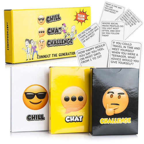 Fun Social Skills and Therapy Game for Adults and Teenagers: Family Game for Meaningful Conversations and Open Communication, Leading to Better Relationships.