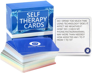 SELF THERAPY CARDS – Your therapist in a box! Conquer your stress and anxiety with these anxiety relief cards!