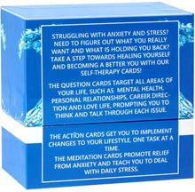 Load image into Gallery viewer, SELF THERAPY CARDS – Your therapist in a box! Conquer your stress and anxiety with these anxiety relief cards!