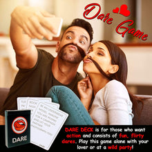 Load image into Gallery viewer, Fun and Romantic Game for Couples: Date Night Box Set with Conversation Starters, Flirty Games and Cool Dares - Choose from Talk, Flirt or Dare Cards for 3 Games in 1 - Lovely Gift