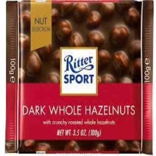 Dark Chocolate with Whole Hazelnuts - Ritter Sport