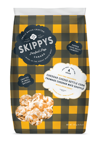 Cheddar gourmet kettle popcorn - Skippys big bag