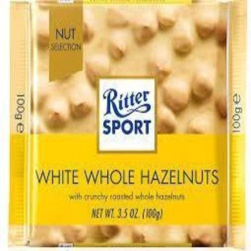 White Chocolate with Whole Hazelnuts - Ritter Sport