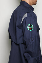 Load image into Gallery viewer, Permian FR Navy Green Label Button Down