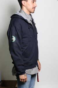 Permian FR Navy Green Label Hoodie