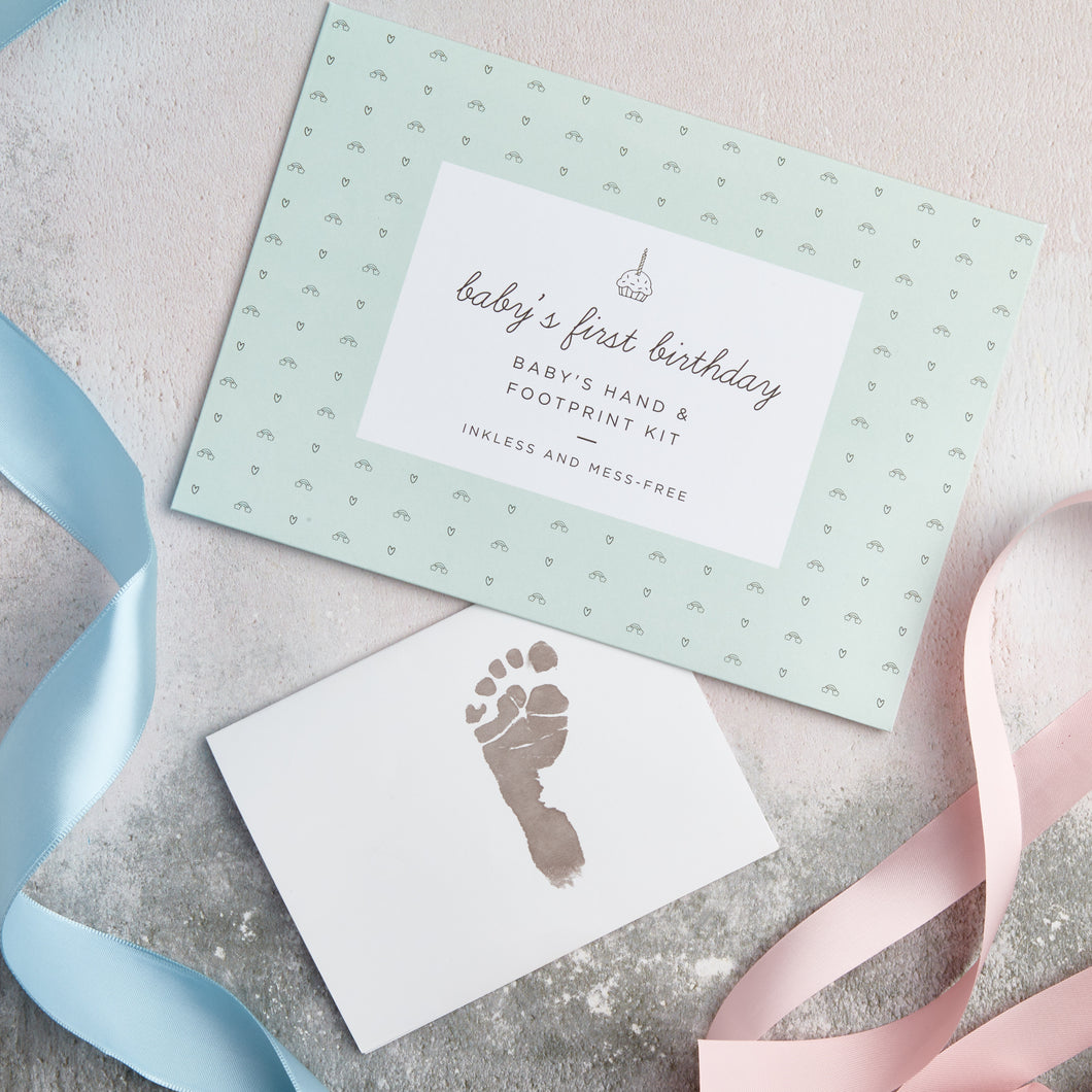 Baby's First Birthday Hand & Footprint Kit