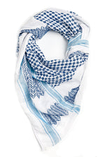 Load image into Gallery viewer, Hirbawi Mediterranean Blue keffiyeh
