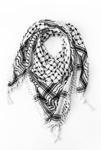 Hirbawi black and white kaffiyeh