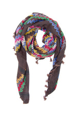 Load image into Gallery viewer, Hirbawi Brown chocolate shemagh fashion scarf