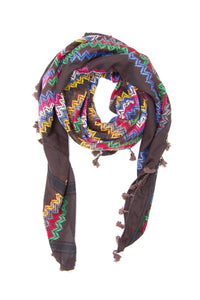 Hirbawi Brown chocolate shemagh fashion scarf