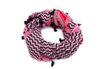 Load image into Gallery viewer, Hirbawi Original Cotton Pink white and black kufiya
