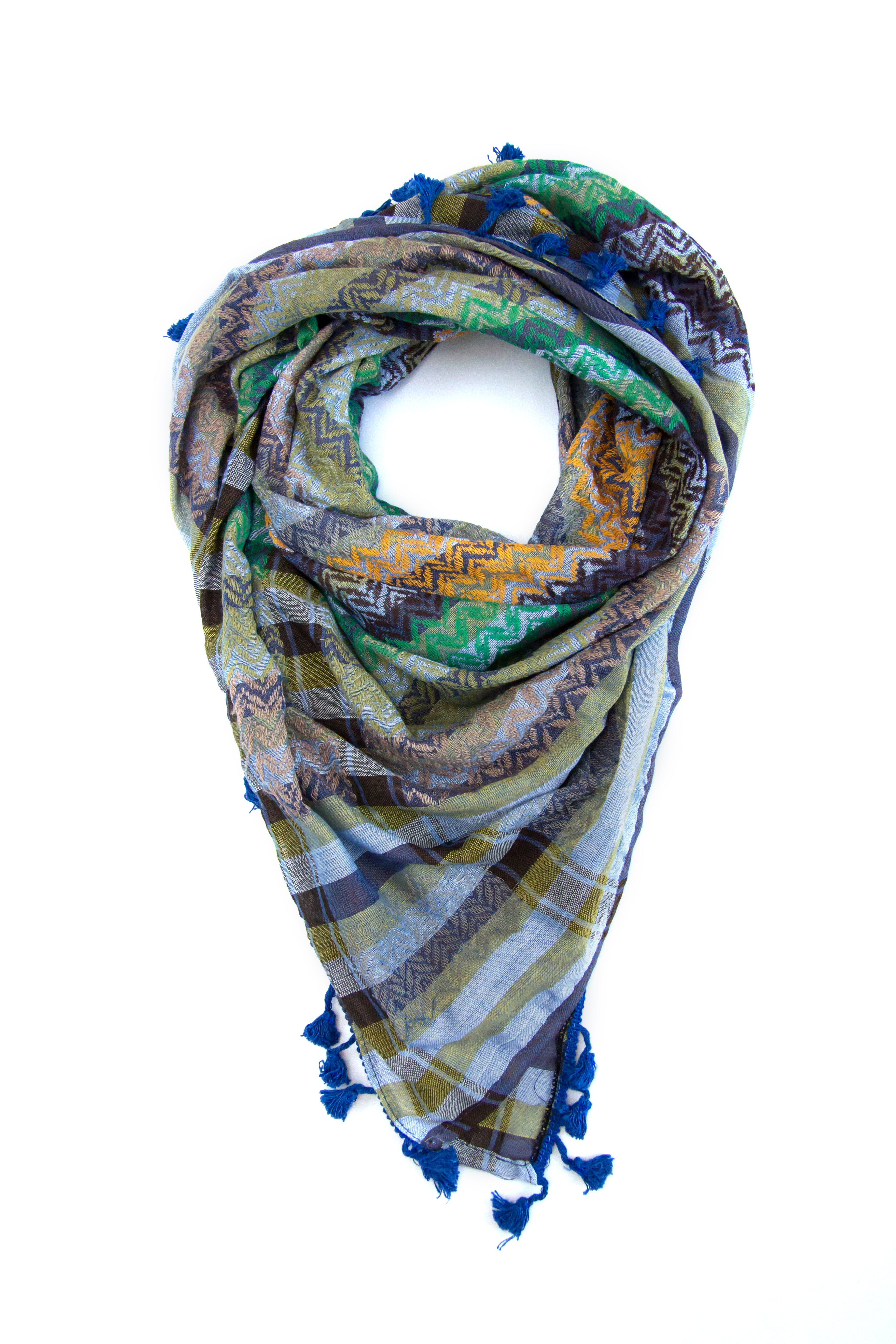 Colors of Bethlehem Palestinian scarf. Middle eastern keffiyehs and shemaghs