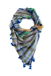 Colors of Bethlehem Palestinian scarf. Middle eastern kufiya and shemagh