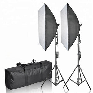 Mikrosat (CLK3) Youtube Softbox Set mit 2x85W und 60x60cm softbox