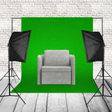Mikrosat (CLK11) 2x85w Softbox Set mit Hintergrundsystem (Green screen) - mikrosat.de