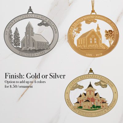 Gold or Silver Ornament