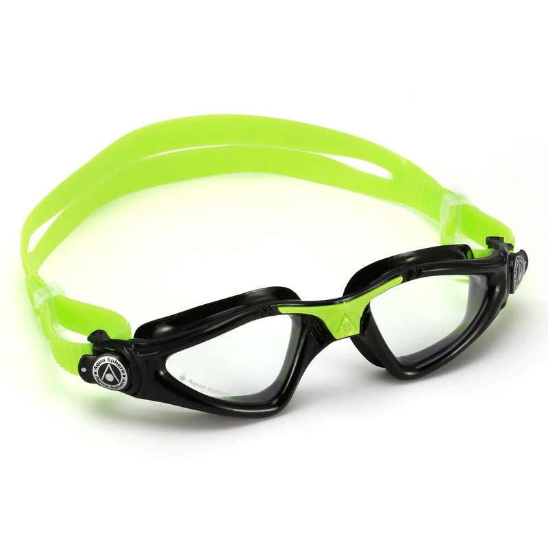 Kayenne Junior - Zwembril - Kinderen - Clear Lens - Zwart/Lime