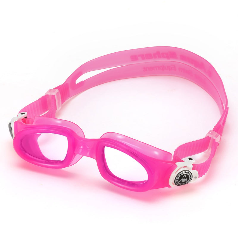 Moby Kid - Zwembril - Kinderen - Clear Lens - Roze/Wit