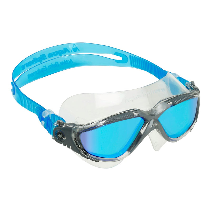 Vista - Zwembril - Volwassenen - Titanium Mirrored Lens - Transparant/Grijs