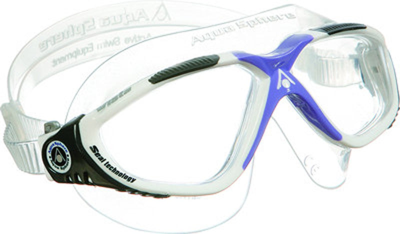 Vista Lady - Zwembril - Volwassenen - Clear Lens - Wit/Lavender