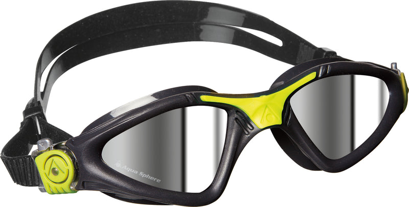 Aqua Sphere Kayenne - Zwembril - Mirrored Lens - Grijs/Lime