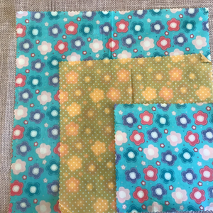 Sewing Bee Flower Design Beeswax Wraps