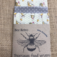 Load image into Gallery viewer, chicken,Beeswax wraps, beeswax food wrap, food wrap, reusable food wrap, best beeswax wrap, beeswax wrap uk, beeswax wrap Cornwall, handmade beeswax wrap, wax food wraps, eco wrap, food wrap, food packaging