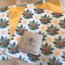Load image into Gallery viewer, Sloth Beeswax Wraps