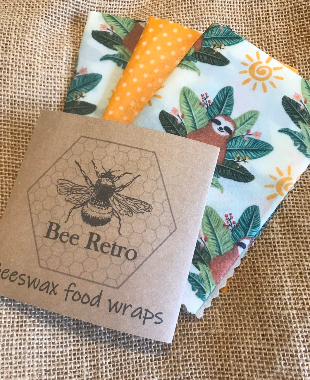 Sloth Beeswax Wraps