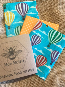 Hot Air Balloon Beeswax Wraps