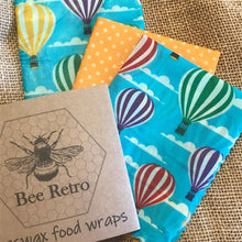 Load image into Gallery viewer, Hot Air Balloon Beeswax Wraps
