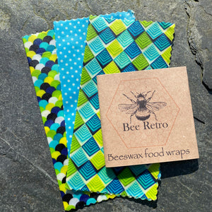 Spring Greens Eco Friendly Beeswax Wrap