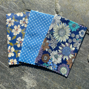 Blue Sunflower- Eco Friendly Beeswax Wrap