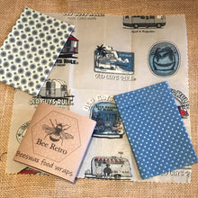 Load image into Gallery viewer, old guys rule, Beeswax wraps, beeswax food wrap, food wrap, reusable food wrap, best beeswax wrap, beeswax wrap uk, beeswax wrap Cornwall, handmade beeswax wrap, wax food wraps, eco wrap, food wrap, food packaging