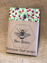 Load image into Gallery viewer, Strawberry Bee, Eco Friendly Beeswax Wraps