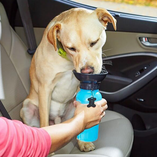 Dog Water Bottle Sports Squeeze Type - Portable Travel Bowl