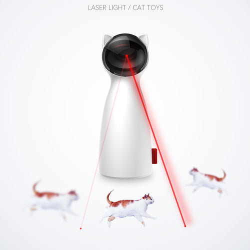 Cat LED Laser Toy  Smart Automatic Cat Exercise Training Multi-Angle Adjustable USB Charge