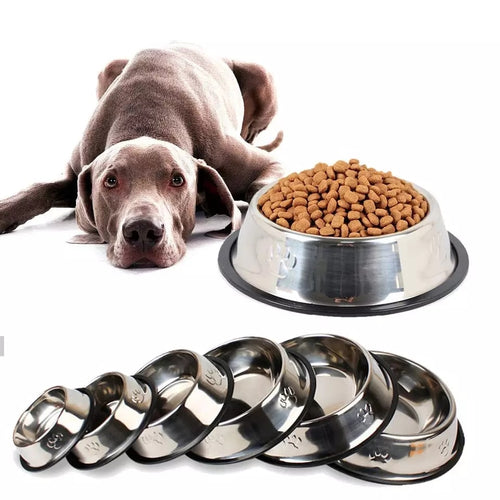 Stainless Steel Non-slip Feeding Bowl For Pets