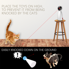 Load image into Gallery viewer, Cat LED Laser Toy  Smart Automatic Cat Exercise Training Multi-Angle Adjustable USB Charge