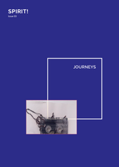 Cover page of Magazine Journeys with image of audio cassette tape.