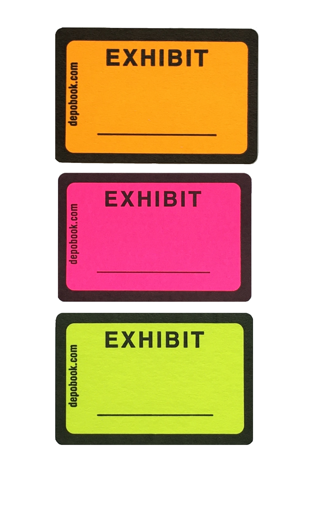 DayGlo Exhibit Sticker Sheets - LOOSE (500 pack)